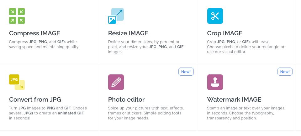 Utiliza iloveIMG para optimizar tus imágene