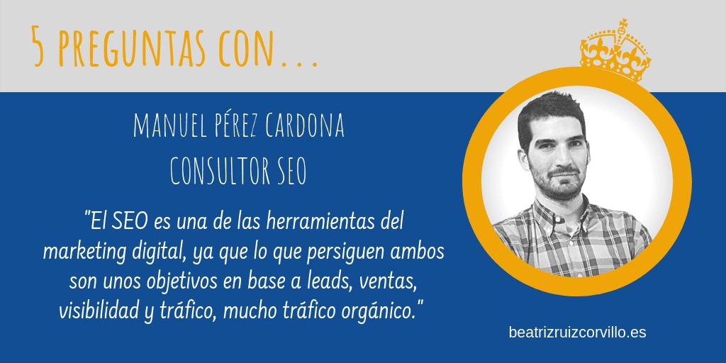 Manuel Pérez Cardona – Consultor SEO