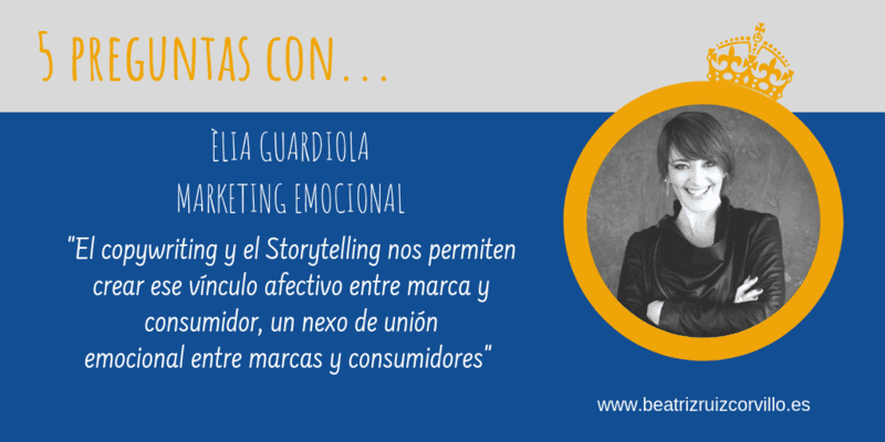5 preguntas con Èlia Guardiola – Marketing emocional