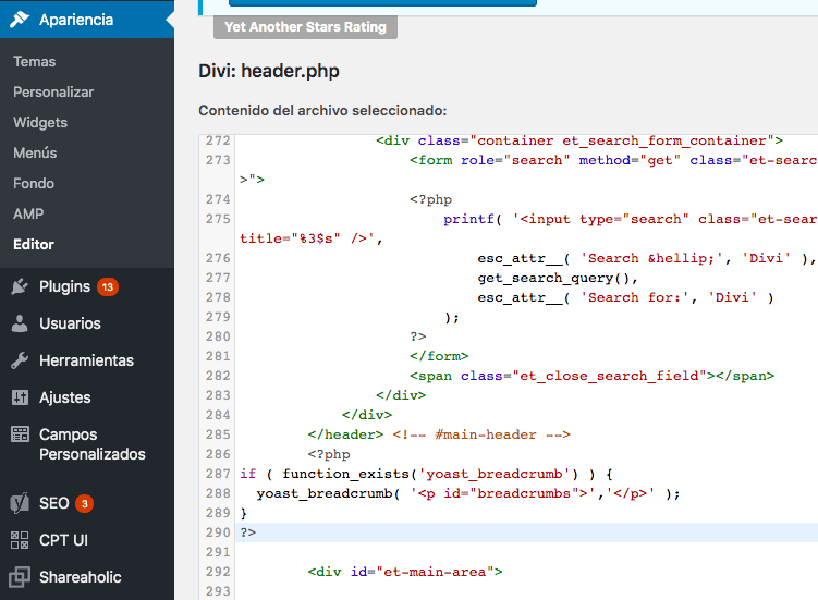 migas de pan html