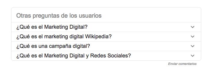 Usa las preguntas sugeridas por Google para tu redacción SEO